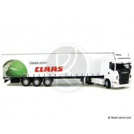 Scale model 1:50 Scania R580 + trailer claas UH