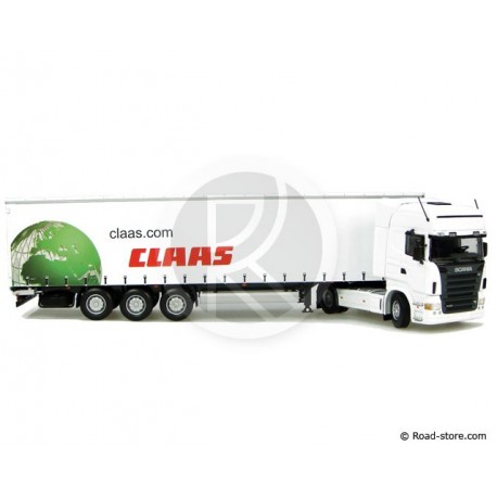 Truck scale models 1:50 SCANIA R580 + CLAAS trailer
