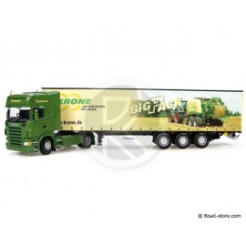 Scale model 1:50 Scania R580 + trailer krone big pack UH