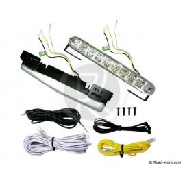 Daytime LED lampe 18 leds 12/24V x2 automatic