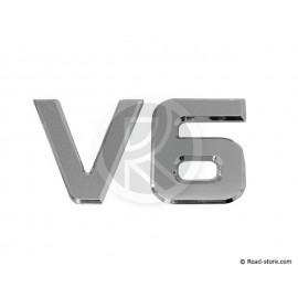 "DECORATION ""V6"" ADH CHROME 3D 9 CM X 1 PCE"