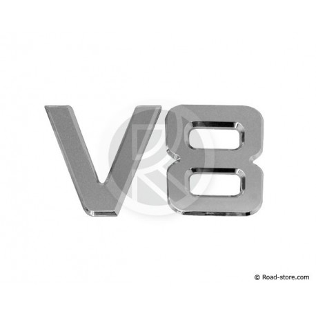 "Dekoration ""V8"" Chrome 3D 9 CM X1"
