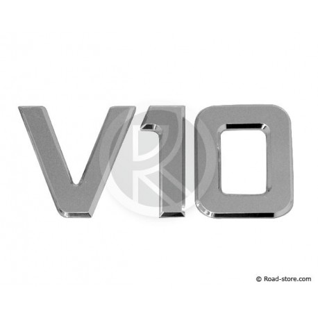 "DECORATION ""V10"" ADH CHROME 3D 9CM X 1 PCE"