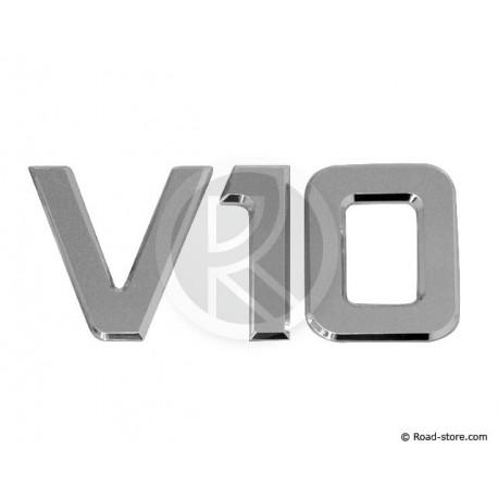 "Dekoration ""V10"" Chrome 3D 9CM X1"