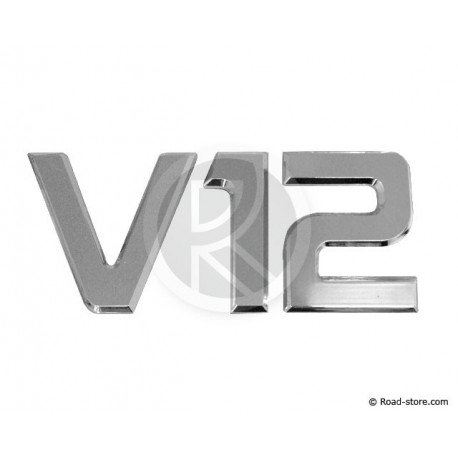 "Decoration ""V12"" Chrome 3D 9CM X1"