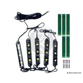 Grill Dekoration 5 x 3 LEDS Weiß 24V