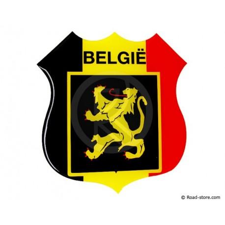 "Relief Sticker Klebstoff ""BELGIE"" 112x120mm"