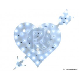 Decoration heart leds 12V white