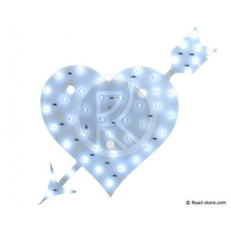Dekoration Herz LEDS 12V Weiß