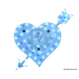 Dekoration Herz LEDS 12V Blau