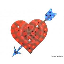 Dekoration Herz LEDS 12V Rot/Blau