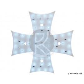 DECORATION CROIX LUMINEUSE A LEDS 12V BLANC