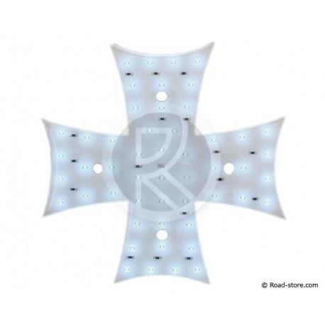 Dekoration Kreuz LEDS 12V Weiß