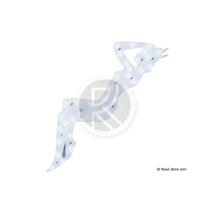 Decoration pin up lumineuse a leds 12v blanc road store for Decoration lumineuse