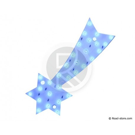 DECORATION ETOILE LUMINEUSE A LEDS 12V BLEU