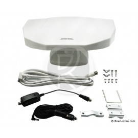 TV antenna 360° 12/24V int/ext compatible TNT