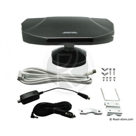 ANTENNE TV 360 MIXTE 12/24V INT./EXT. BASE MAGNETIQUE