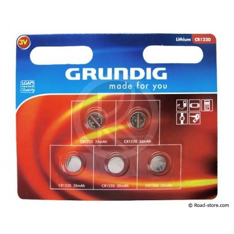"""Batterie """"GRUNDIG"""" CR1220 x 5"""