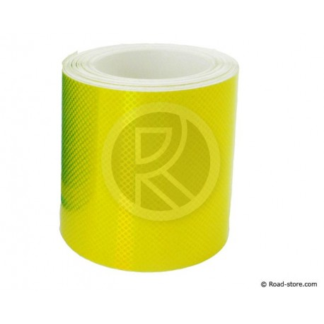 RUBAN REFLECH. ROULEAU 5,5m x 5cm JAUNE