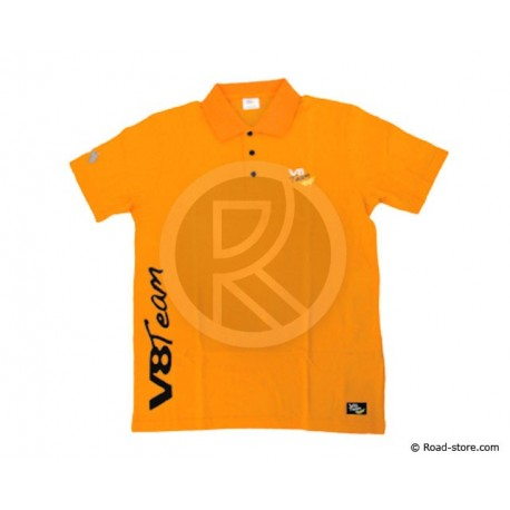 "POLO V8 TEAM ""CLASSIQUE"" L ORANGE"