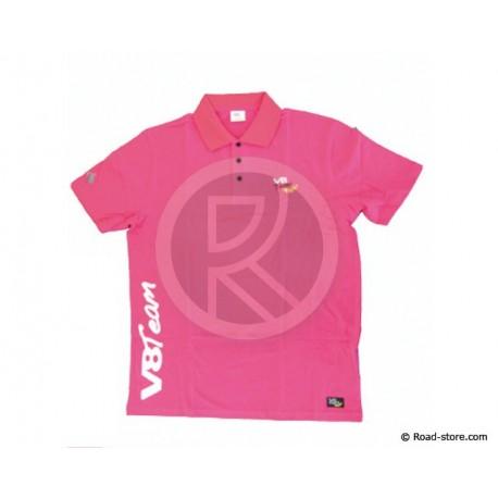 """POLO V8 TEAM """"CLASSIQUE"""" L Pink"""