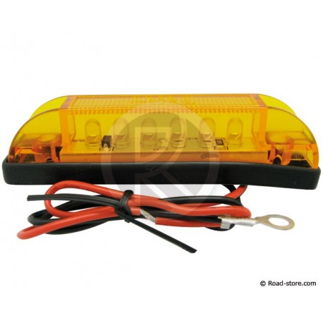 Side light truck 6 LEDS 24V 10CM Orange