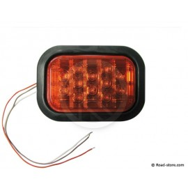 Rear Light 12 LEDS 10-30V 11X16 CM Red