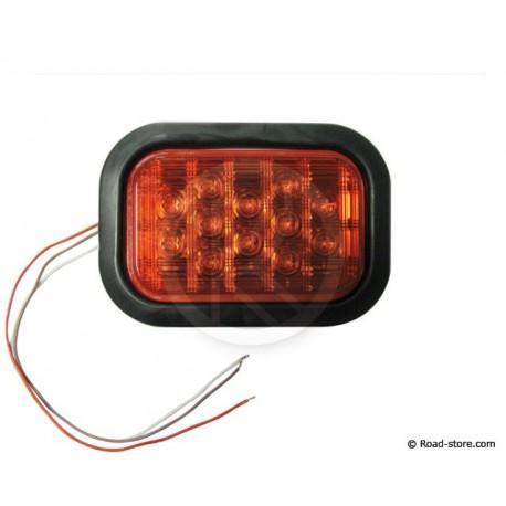 FEU ARRIERE 12 LEDS 10-30V 11X16 CM ROUGE