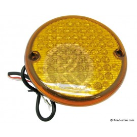 FEU GABARIT ARRIERE ROND 63 LEDS 24V DIAM. 14CM ORANGE