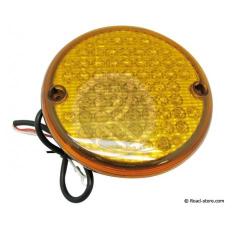 FEU GABARIT ARRIERE ROND 63 LEDS 24V DIAM. 14CM ORANGE