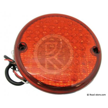 Universal Round Rear Light 63 LEDS 24V DIAM. 14CM Red