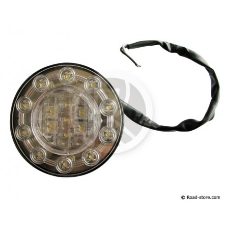 Universal Rücklicht 15 LEDS 24V Weiß