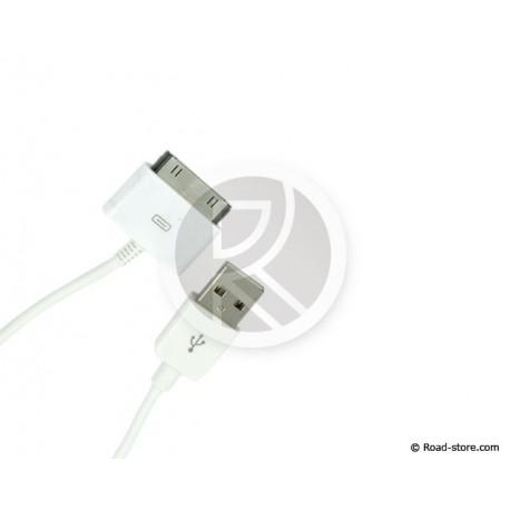 CABLE CONNEXION 2 EN 1 iPHONE/iPAD/iPOD vers USB 2.0