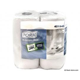 2X Rouleaux white paper towel Lotus