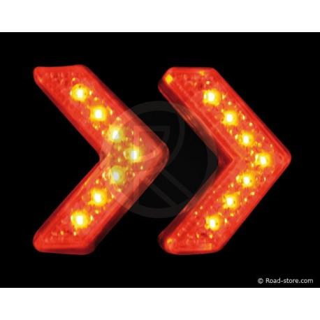Dekoration Zwei Pfeile 14 LEDS 24V Rot