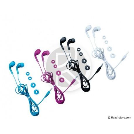 ECOUTEURS STEREO MP3 ET CONSOLES 2 COUL. ASS.