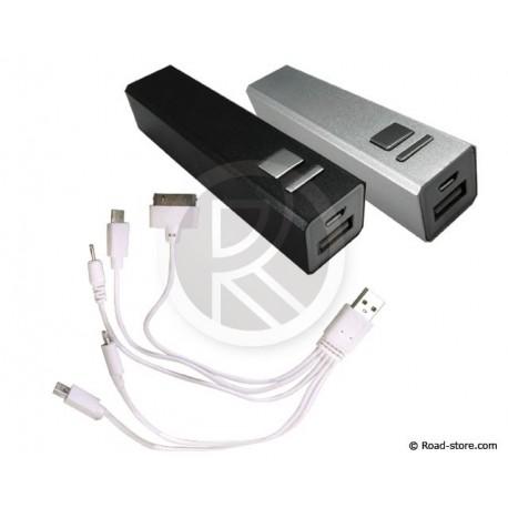 Reisebatterie BOOSTER iPhone 4/Nokia/Mini/Micro USB