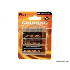 Batterie LR20 D GRUNDIG BLISTER x2