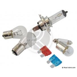 Box : 5 Glühlampe H4 12V + 2 Sicherungen