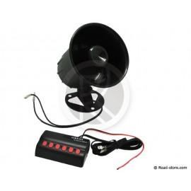 Siren 6 sound 24V DC 20W