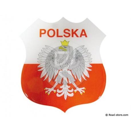 Relief Sticker Klebstoff POLSKA 112x120mm