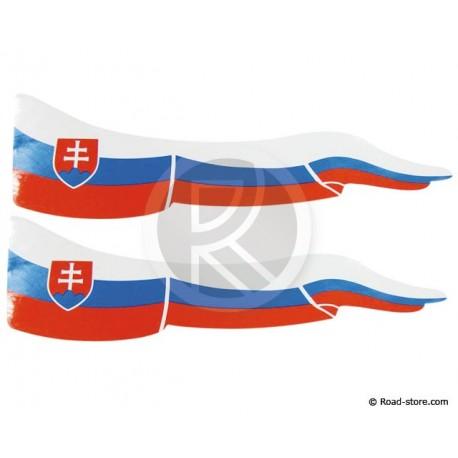 Fahnen Adhesiv 2x  Slowakei