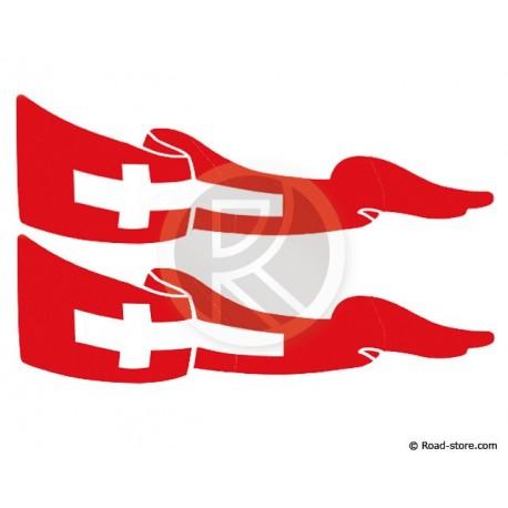 Fahnen Adhesiv 2x Schweiz