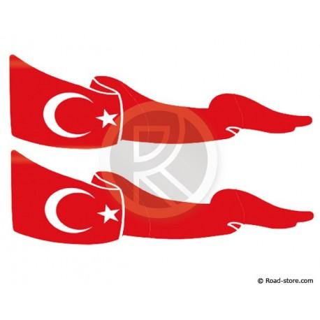 Fahnen Adhesiv 2x Türkei