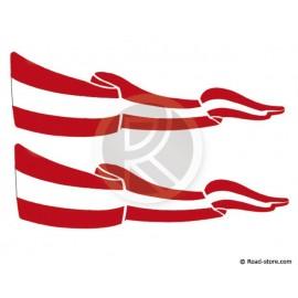Fahnen Adhesiv 2x Österreich