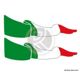 DRAPEAUX ADHESIFS POUR VITRES LATERALES ITALIE X2