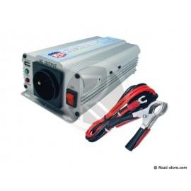 CONVERTISSEUR 24V/230V/600W DC/AC (PRISE N.F.) + PORT USB