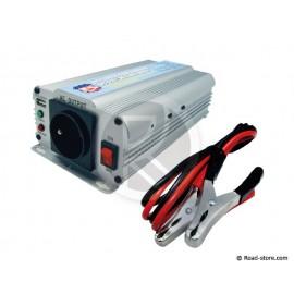 CONVERTISSEUR 600W 12V/230V DC/AC (PRISE NF) + PORT USB 5V