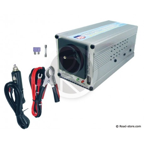 CONVERTISSEUR 12/24V EN 220/240V/350W + PORT USB