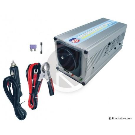 CONVERTISSEUR 12V/230V/300W + PORT USB